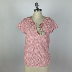 Soft Joie Cotton Pink Tie Front Top